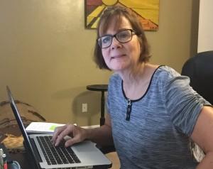 Janis at desk