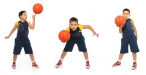 Help your child play with a ball hog