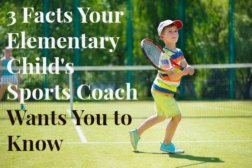 child's sports coach