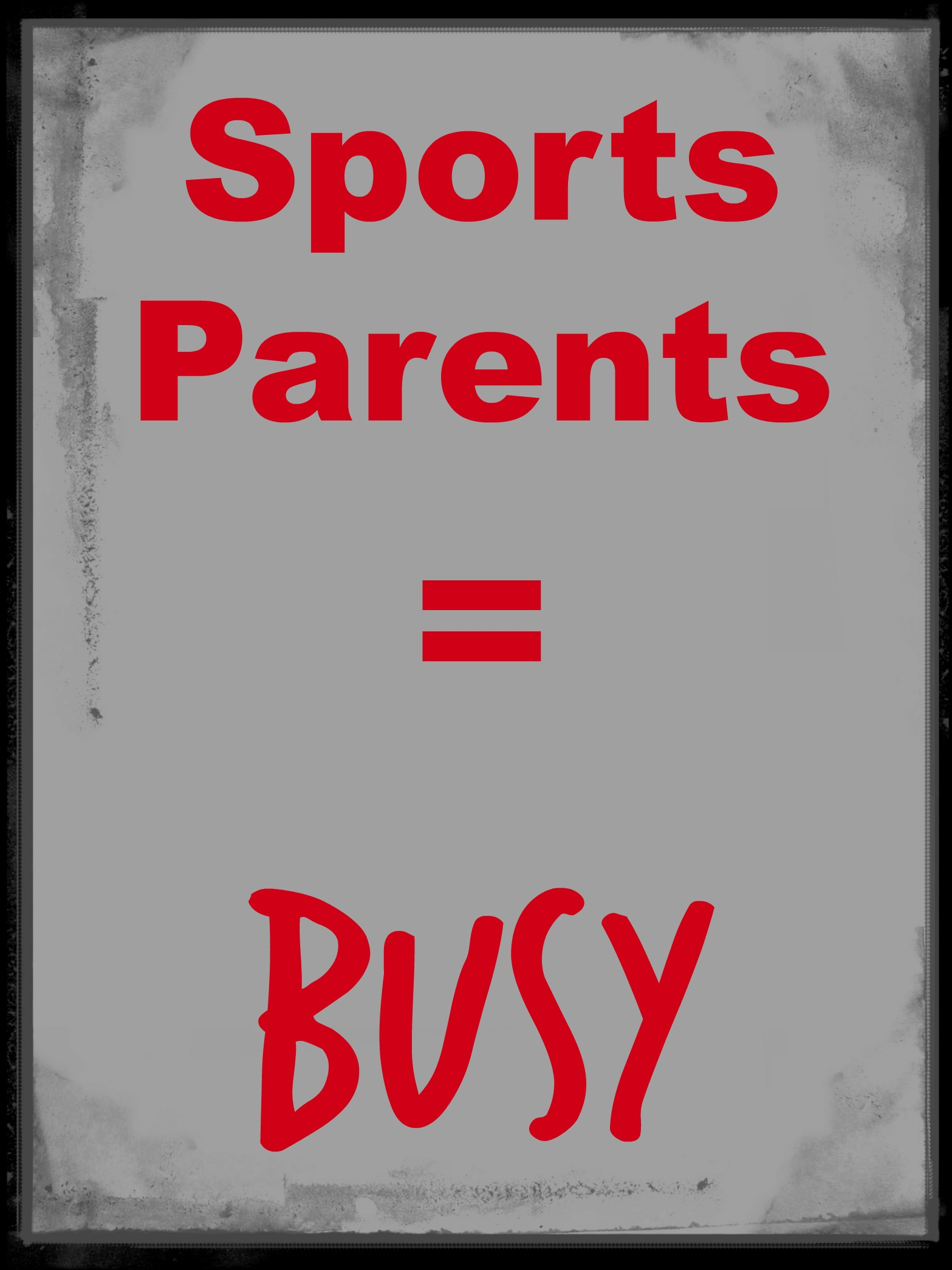 busy sports parents