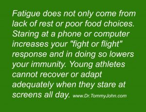 screen time and athletes