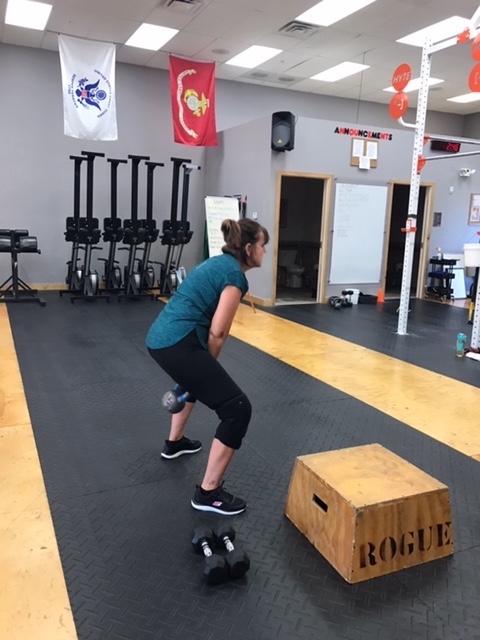 Me working hard at my CrossFit Gym.