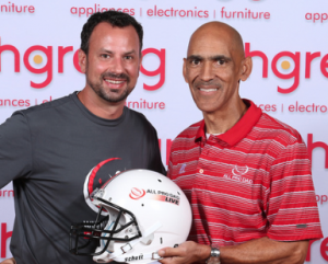 Craig with Tony Dungy